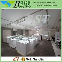 White jewelry store furniture, jewelry counter, decorative design jewelry store