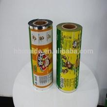 high quality printed food grade plastic film pvc/pe/pet/bopp in china