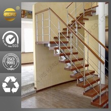Customized internal staircase ladders house wood stairs