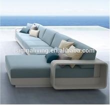 2015 White garden luxury furniture sofa modern lounge sofa