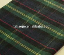 woollen tartan fabric