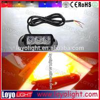 6W 4W New product warning LED bar lights for used utv 4x4 SUV Jeep marine