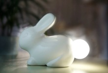 latest gift items unique giveaways cartoon rabbit shape saving bank & night light