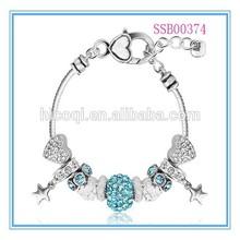 2015 new trend Handmade DIY Charm Bracelet,Crystal Fashion Bracelet