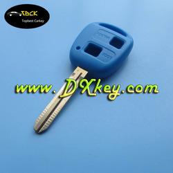 Light blue key blanks wholesale for Toyota key shell Toyota key blank 2 button