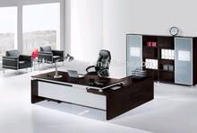 Modern executive office desk with wood veneer V306