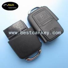 Best price 2 buttons car key with 433MHZ for VW car key VW remote key 1JO 959 753 CT