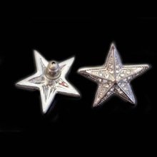 silver plating big star shaped stud earring