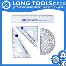 Custom brand 15cm metric geometric scale plastic school ruler