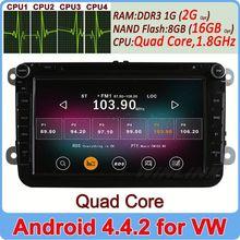 Ownice Quad Core Android 4.4.2 C200 car dvd for vw skoda Cortex A9 1.8GHz 2GB DDR3 16GB Flash