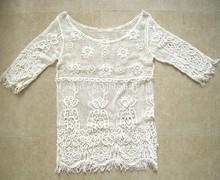 Latest Fashion Lady Machine Crochet Blouse