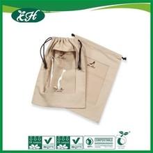 wholesale manufacture waterproof customized plastic cloth drawstring bag