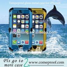 Waterproof case for iphone6 plus Gorilla Glass metal aluminum case cover for iphone 6 plus