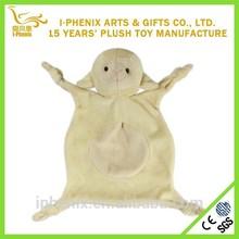 Cartoon animal shape lovely sheep shape plush animal comforter for baby