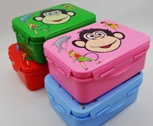 Plastic fashion Food grade school lunch bento box/ kids food storage box