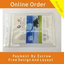 Exhibition Card Holder PVC Badge Zip Lock Closure