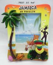 polyresin photo frame JAMAICA rasta palm tree design