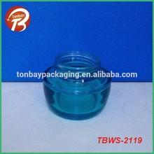 coating blue 50ml cosmetic glass jar for Skin Care Usage 50ml Cosmetic Glass JarTBWS-2119