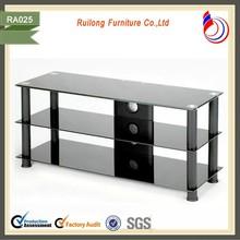 2015 modern design clear glass acrylic tv stand turkey RA025