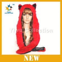 knitting pattern animal earflap hat,plush animal hat scarf glove,faux fur animal hat hood with paws