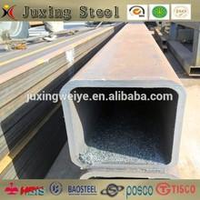 black square pipe/square tube/steel pipe in stock