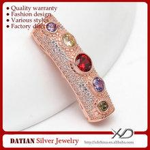 XD 925 sterling silver rhinestone jewelry findings