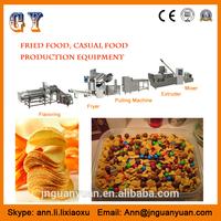 Popular daily snacks food crisp corner fired shell roll production line