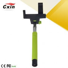 Korea New Fashion!!! Single Clip Single Clip Lightweight Aluminum Pole With Smartphone Cheap Handheld Monopod