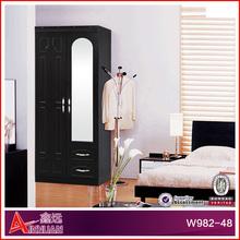 W982-48 bedroom wood modular wardrobe