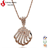 Latest qiqi fashion unique 18k gold necklace alibaba wholesale FPN139