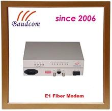 Baudcom fiber to E1 modem