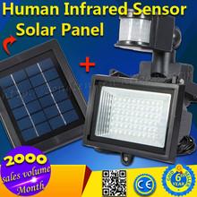 2015 New Arrival 60pcs IP44 Waterproof 6V 1W 6000K LED Solar Sensor Light