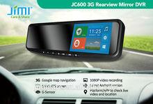 JIMI JC600 Android 4.2 GPS Navi 1080P WIFI 3G Network BT 8M Camera Rearview Mirror, car dvr gps tracker