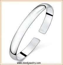 TOP popular simple Fashion Design 925 sterling silver jewelry wholesale bracelet pure silver cuffs