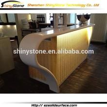 Elegant ring shape solid surface/man-made stone nail bar furniture
