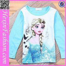 Luz azul brilhante e branco impressão camisa criança