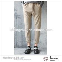 New deesign 100% cotton hot sale khaki men casual pants trousers