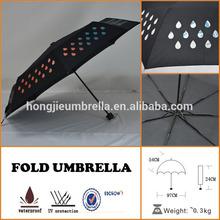 Color Changing Umbrella Fun Rain Raining Accessory Dry Water Rainbow