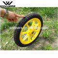 16 '' polegadas de borracha roda de plástico para carrinho