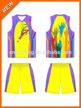 Youth popular hot sale heat transfer cooldry basketball shirt