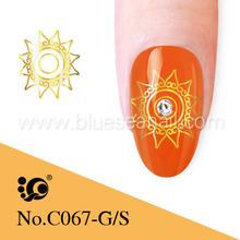 water nail decals gold nail art China nails