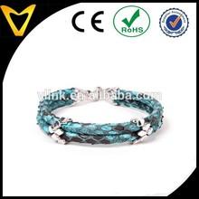 The newest fashion design rare python leather cords bracelet designs