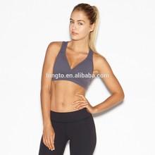 87% lycra 13%spandex mesh yoga bra