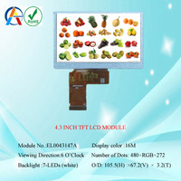4.3 inch tft lcd module touch 480x272 pixels,graphic electronics alphanumeric lcd display