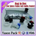Yasonpack frutta, succo di olio di oliva con valvola a farfalla bagin box
