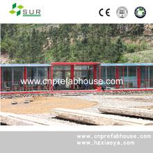 pre-made container house/prefabricated beach house/cheap prefab homes