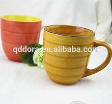 2015 new product ,ceramic 11oz mug bulk,porcelain /stoneware mug with colorful design for promotional