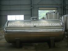 pharmacy equipment horizontal type stainless steel pressure tank