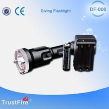 650 lumen diving flashlight DF006 underwater fishing torch 18650 flashlight rechargeable