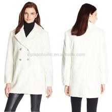 Alibaba Gold Supplier Clothing Women Peacoat Winter Woolen Coat